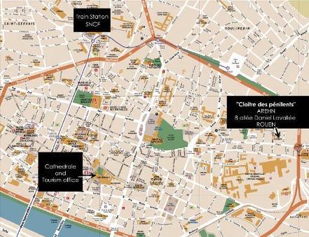 Map of Rouen